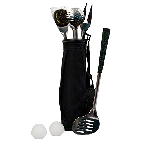 golf bbq tools 7 piece golf grip grilling set golf equipment store. Black Bedroom Furniture Sets. Home Design Ideas