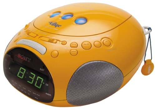 Sony ICF-CD831 PSYC Clock Radio/CD Player (Yellow)