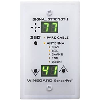 amazon com winegard swm 840 switch kit automotive winegard rfl 342 sensarpro white tv signal strength meter