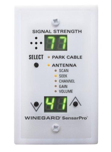 Winegard RFL-342 SensarPro White TV Signal Strength Meter (Winegard Cable)