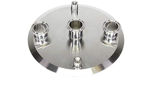 BVV 1.5 Inch x 19 Inch x 3//8 Inch FNPT Stainless Steel Tri-Clamp Manifold