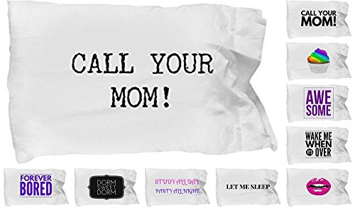 Twin Mug Set (BEST CALL YOUR MOM PILLOWCASE, PILLOW CASE BEDDING FOR DORM ROOM LIVING ESSENTIALS, Bed Decor For Girls And Boys (Call Your Mom))