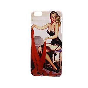 """Highsound Women &Red cloth Back Hard Case Cover For iPhone6 Plus 5.5"""""""