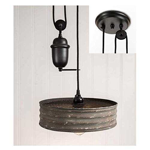 (The Kings Bay Riddle Sifter Pull Down Old Vintage Style Pendant Light Chandelier Adjust Height)