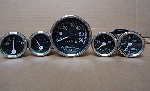 JEEP-Speedometer-Gauge-Kit-12-VOLT-fits-1946-66-CJ-2A-3A-3B-M38-M38A1 for sale  Delivered anywhere in Canada