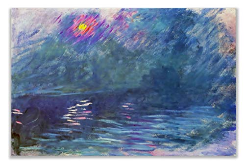 Monet Wall Art Collection WC-33MONET-812 Waterloo Bridge, 1899 by Claude Monet Canvas Prints Wrapped Gallery Wall Art | Stretched and Framed Ready to Hang 8X12, Claude Monet Waterloo Bridge