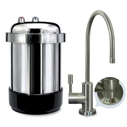 Genial WaterChef® U9000 Premium Under Sink Water Filtration System (Brushed Nickel  Faucet)