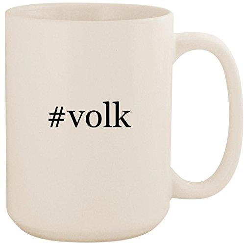#volk - White Hashtag 15oz Ceramic Coffee Mug Cup