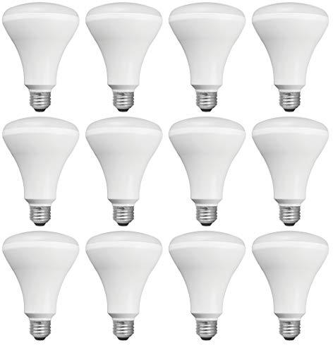 TCP 65 Watt LED BR30, 12 Pack, Soft White (2700K), Energy Star Rated, Dimmable Flood Light Bulbs
