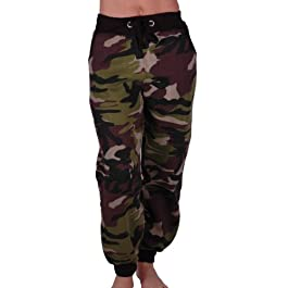 Eyecatch – Womens Casual Military Army Camouflage Sports Gym Joggers Jogging Ladies Tracksuit Bottoms