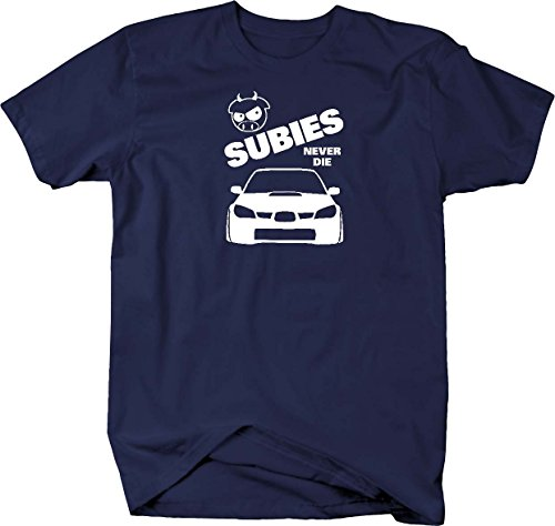 Subies Never Die WRX STI Evil Pig Subaru Impreza Turbo (Mens Never Die)