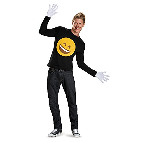 Disguise Men's Smile Costume Accessory Kit, Yellow, One Size