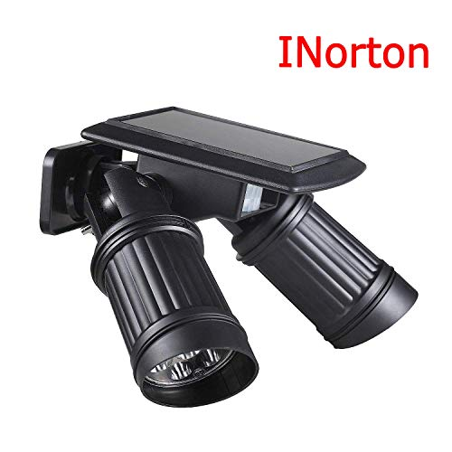 INorton 14 LEDs Solar Lamp Head Spotlight with PIR Motion Sensor,Dual Adjustable Waterproof Head Led Night Light for Outdoor Activity