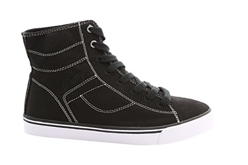 Pastry High Tops - Pastry Cassatta Stretch Canvas Dance Sneakers, Black/White, Size 10
