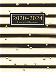 5 year monthly planner 2020-2024: 60 Months Calendar with Federal Holidays | Appointment Notebook | Agenda Schedule Organizer Logbook | Inspirational Quotes | Plan Ahead Goal |time management 2020|2021|2022|2023|2024| Nifty Lined Print With Golden Glitter