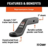 CURT 45340 Forged Trailer Hitch Ball Mount, Fits