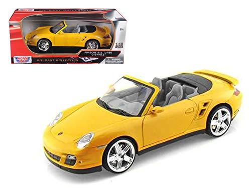 Motormax 73183 Porsche 911 (997) Turbo Convertible Black 1/18 Diecast Car Model (Best Tires For Porsche 911 997)