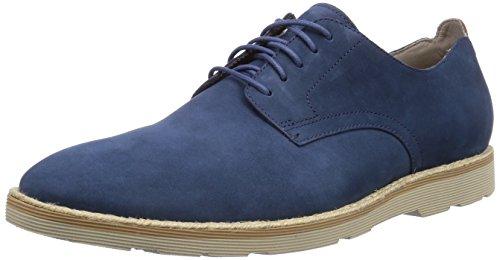 Clarks Gambeson Walk - zapatos con cordones de cuero hombre, color azul, talla 45