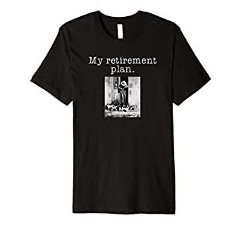 Mens My Retirement Plan Funny Cat Shirt Premium 2XL Black