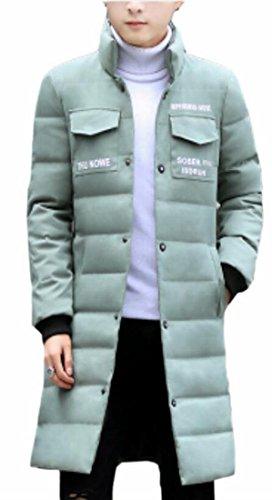 Puffer Verde Luce Giù Di Inverno Degli Outwear Oggi Lungo uk Cappotto Stand Collare Caldo Uomini 1qBwg6E
