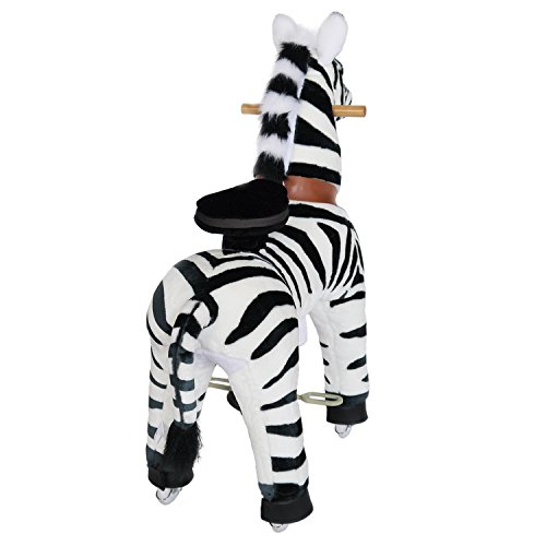 PonyCycle Official Riding Horse Zebra Black and White Giddy up Pony Plush Toy Walking Animal for Age 4-9 Years Medium Size - N4012 by PonyCycle (Image #5)