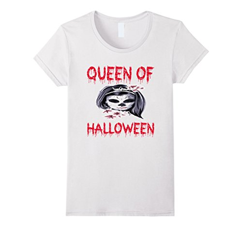 Womens Scary Halloween Costume For Girls Women - Pumpkin Tee Large White
