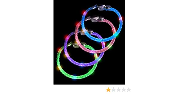 Fun Central AC077 LED Light Up Braided Bracelets Assorted 12pcs