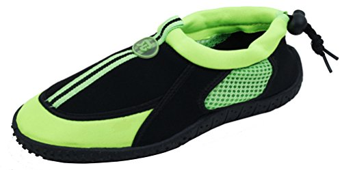 Cambridge Select Dames Gesloten Neus Slip-on Sneldrogend, Antislip Trekkoord Waterschoen Groen