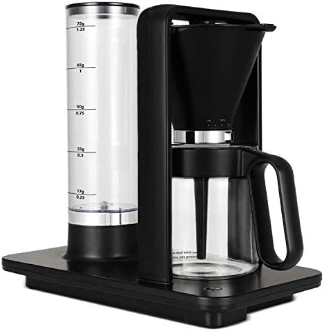 Wilfa Precision Automatic Coffee Brewer WSP-1B , Detachable Water Tank, Precise Temperature and Water Control, Hot Warming Plate, Glass Carafe Included, Pour Over, Black