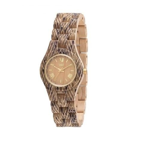 WeWOOD Criss Python Beige de mujer (Reloj (madera) - wewood05: Amazon.es: Relojes