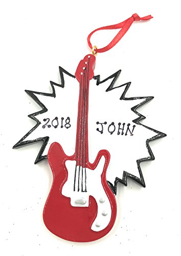 Personalized Electric Guitar Christmas Ornament 2018 Free Personalization ()