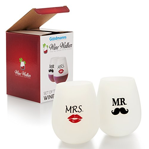 Funny Wedding Gifts Stemless Silicone