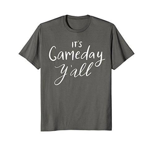 Mens It's Game Day Y'all T-Shirt Funny Sports Fall Football Gift 2XL Asphalt