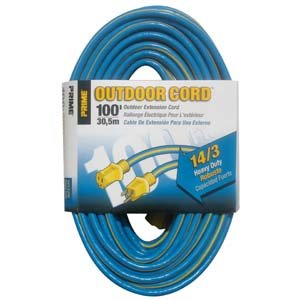 100 Ft 14/3 Blue & Yellow Outdoor Extension Cord by Prime Wire & Cable
