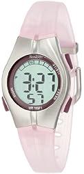 Armitron Sport Women's 456963PNK Chronograph Pink Resin Strap Digital Display Watch