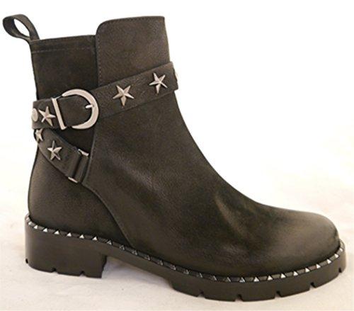 Schwarz 001 Femme Noir Boots 298 Fersengold Chelsea 344 xPqwa6YYf