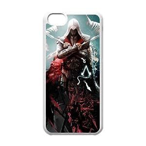 iphone5c case,iphone5c Cell phone case White Assassin Creed-PUU4892096