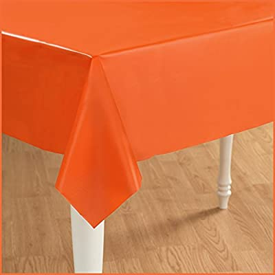 Creative Converting - Sunkissed Orange (Orange) Plastic Tablecover from Creative Converting