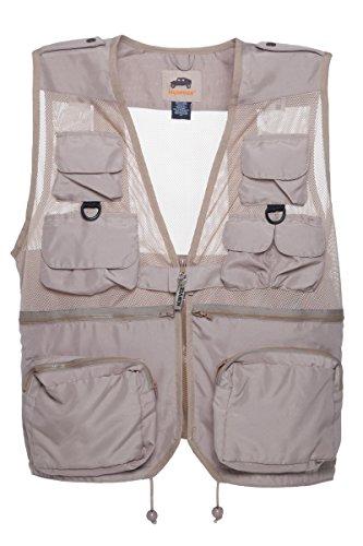 HUMVEE HMV-VC-K-L Large Nylon Combat Vest with Safety Zipper, Khaki