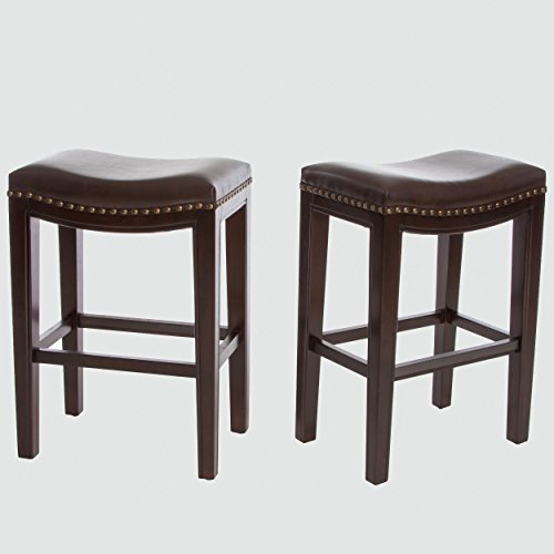 Best Selling Aster Backless Counter Stools Brown Set Of