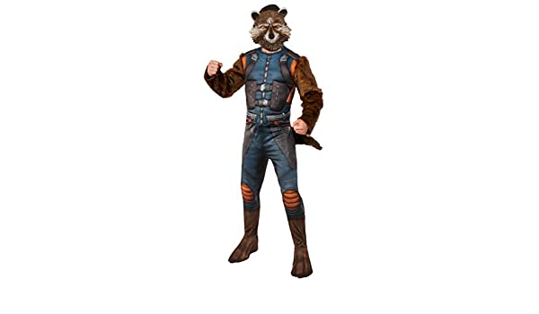 Horror-Shop Rocket Traje de Mapache con la máscara XL: Amazon.es: Juguetes y juegos