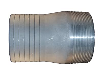 PT Coupling PTCN Series Aluminum Fitting, Combination Nipple, Hose Shank x NPT Male