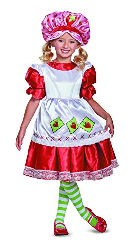 Strawberry Shortcake Vintage Deluxe Costume, Red, Medium