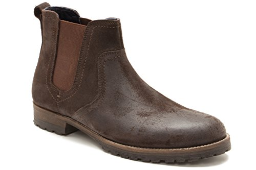 Mens Waxy Casual Shoe Clifton Tape Red Brown