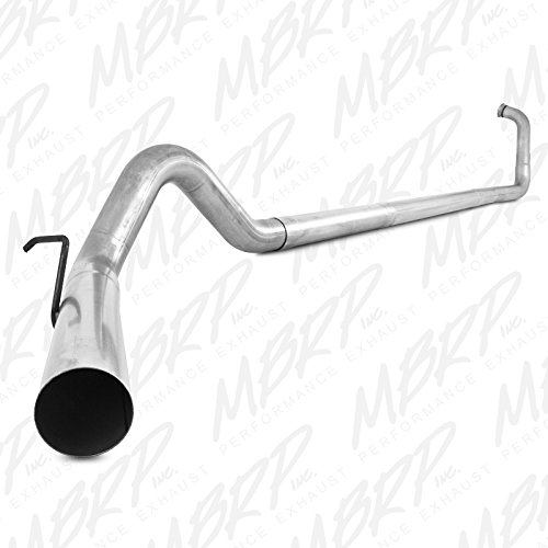 MBRP S6212PLM Turbo Back Single Side Off-Road Exhaust - Single Turbo Inch 4 Back