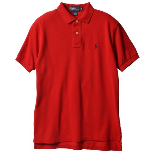 Polo Ralph Lauren Men's Classic Fit Mesh Pony Logo Polo, RL 2000 Red, - Polos Rl