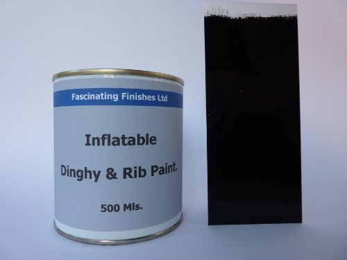 1 x 500ml Jet Black Anti Slip Inflatable Dinghy Paint. Bo...