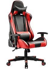 كرسي العاب السباق، احمر
