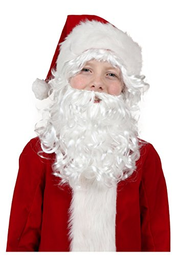 Fun Costumes Womens Child Santa Wig And Beard Standard (Child Santa Wig And Beard)