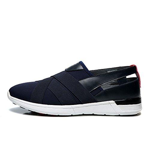 Blue De Souliers Hommes Sneakers Course Mocassins Chaussures Hommes Simples NBWE Respirant Ovx8XX